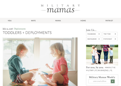 MilitaryMamas.org: Custom child theme  (development only)