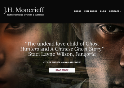 JHMoncrieff.com v2.0: Custom WordPress theme development; design by Elise Epp